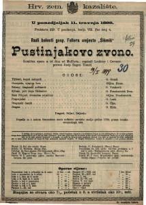 Pustinjakovo zvono (Reprisa.) Komična opera u tri čina / od Maillarta