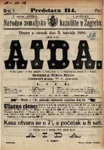 Aida : Velika opera u 4 čina / uglazbio G. Verdi