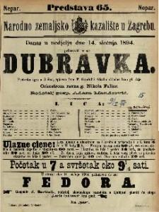 Dubravka Pastirska igra u 3 čina / Glasbu skladao Ivan pl. Zajc