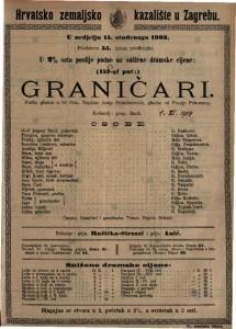 Graničari pučka gluma u tri čina / napisao Josip Freudenreich