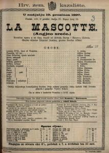 La Mascotte. Angjeo sreće. komična opera u tri čina / Glazbu skladao Edmond Audran