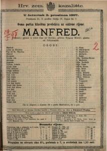Manfred dramska pjesan u četiri čina / od Byrona