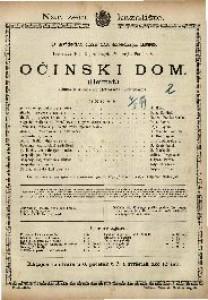 Očinski dom Gluma u 4 čina / od Hermanna Sudermanna  =  Heimat