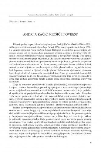 Andrija Kačić Miošić i povijest