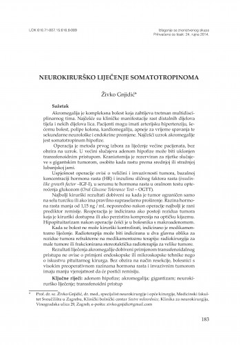 Neurokirurško liječenje somatotropinoma