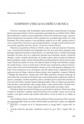 Euripidov utjecaj na Držića i Bunića