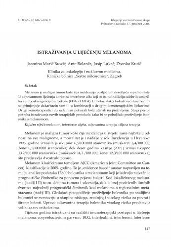 Istraživanja u liječenju melanoma
