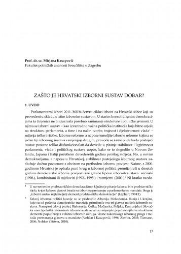 Zašto je hrvatski izborni sustav dobar? : [uvodno izlaganje] : Modernizacija prava
