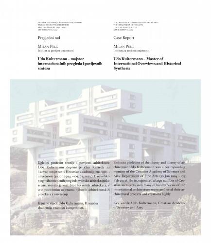 Udo Kultermann (1927.-2013.) - majstor internacionalnih pregleda i povijesnih sinteza : Art Bulletin