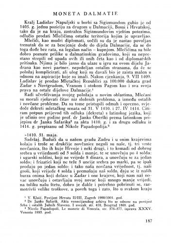Moneta Dalmatie : Bulletin Zavoda za likovne umjetnosti Jugoslavenske akademije znanosti i umjetnosti
