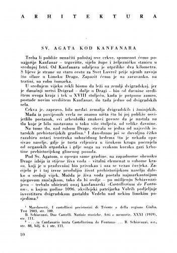 Sv. Agata od Kanfanara : Bulletin Zavoda za likovne umjetnosti Jugoslavenske akademije znanosti i umjetnosti