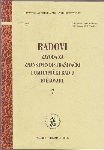Radovi Zavoda za znanstvenoistraživački i umjetnički rad u Bjelovaru