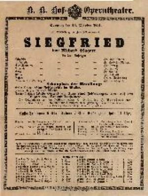 Siegfried In drei Aufzügen