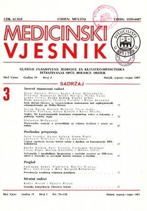 God. 19, br. 3(1987) : Medicinski vjesnik