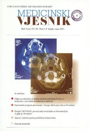 39, br. 1-4(2007) : Medicinski vjesnik