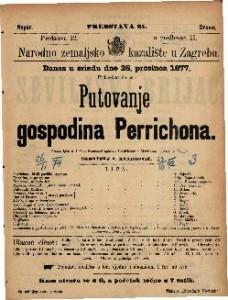 Putovanje gospodina Perrichona vesela igra u 4 čina / francezki spisana Labicheom i Martinom