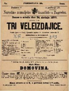 Tri veleizdajice vesela igra u 5 činah / njemački napisao dr. Schweitzer