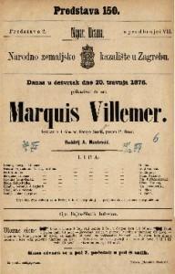 Marquis Villemer : igrokaz u 4 čina / od Georga Sandove