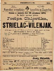 Strielac-vilenjak pučka opera u 3 čina / u glasbu stavio C. M. Weber