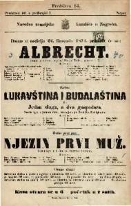 Albrecht : Drama u 1 činu