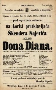 Dona Diana Vesela igra u 3 čina