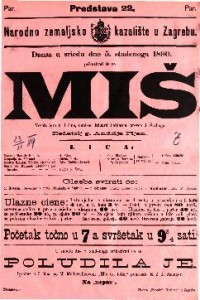 Miš : Vesela igra u 3 čina / napisao Eduard Pailleron