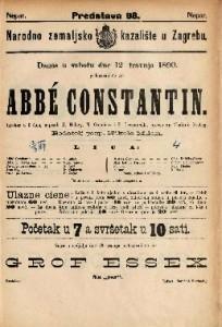 Abbé Constantin : Igrokaz u 3 čina / napisali K. Halevy, N. Cremieaux i P. Decourcelle