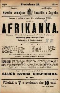 Afrikanka Velika opera u 5 čina / Glasba od G. Meyerbeer-a