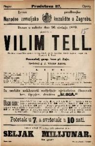 Villim Tell Heroično romantična opera u 4 čina / Glasba od G. Rossini-a