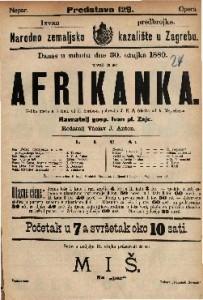 Afrikanka : Velika opera u 5 čina / Glasba od A. Meyerber-a