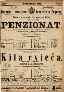 Penzionat Komična opereta u 2 čina / Glasba od Franje pl. Suppe-a