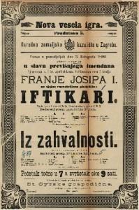 Iftikari ; Iz zahvalnosti Vesela igra u 1 činu ; Šala u 1 činu / od Emila Granichstaedten-a