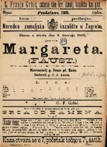 Margareta. (Faust) Opera u 5 čina / Glasba od T. Gounoda