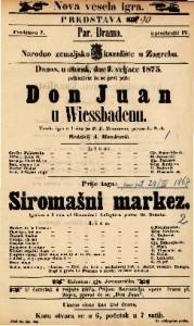 Don Juan u Wiessbadenu = Siromašni markez Vesela igra u 1 činu = Igrokaz u 2 čina / od P. F. Trautmana