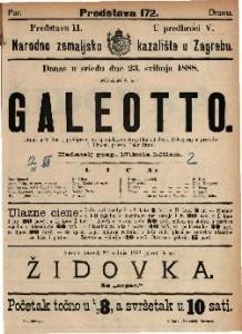Galeotto Drama u 3 čina i predigrom / po španjolskom izvorniku od José, Echegaray-a preradio P. Lindau