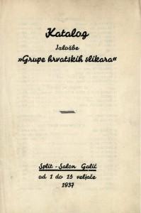 Katalog izložbe Grupe hrvatskih slikara