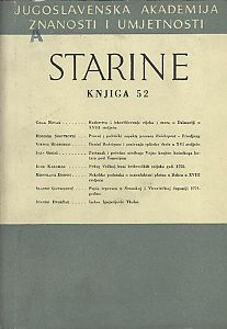 Knj. 52(1962) : Starine