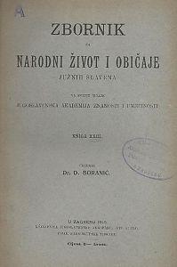 Knj. 23. (1918) : Zbornik za narodni život i običaje