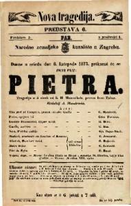 Pietra Tragedija u 5 činah / od S. H. Mosenthala