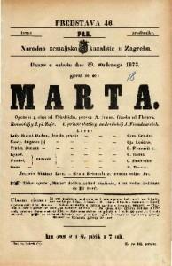 Marta Opera u 4 čina / od Friedricha. Glasba od Flotova