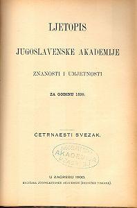 Za godinu 1899. Sv. 14 : Ljetopis