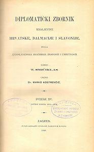 Sv. 15: Listine godina : 1374-1378 : Diplomatički zbornik Kraljevine Hrvatske, Dalmacije i Slavonije