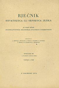 Sv. 88 : 2. dvadeset i prvoga dijela : vodnar-1. vrh : Rječnik hrvatskoga ili srpskoga jezika
