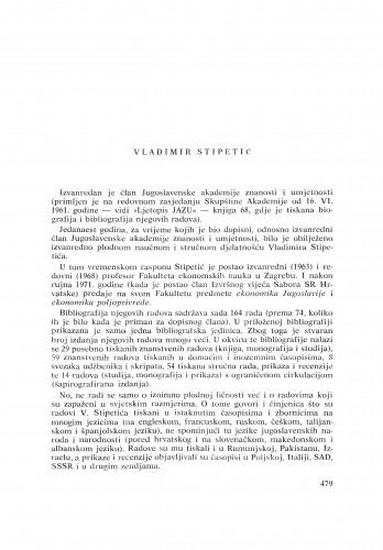 Vladimir Stipetić : [biografije novih članova Akademije]