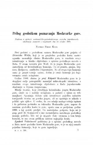 Prilog geoložkom poznavanju Moslavačke gore