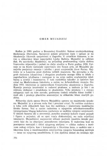 Omer Mujadžić : [biografije novih članova Akademije]