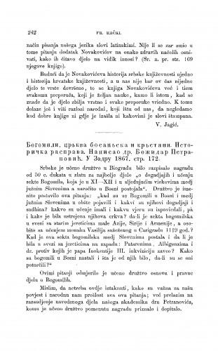 Bogomili, cr'kva bosan'ska i kr'stjani. Istorička rasprava. Napisao dr. Božidar Petranović. U Zadru 1867 : [književna obznana] : RAD