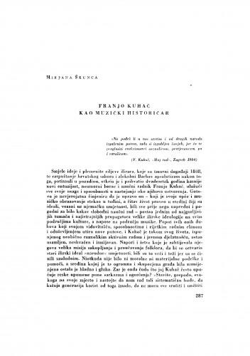 Franjo Kuhač kao muzički historičar