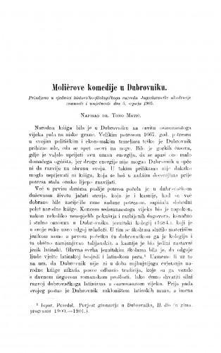 Molierove komedije u Dubrovniku