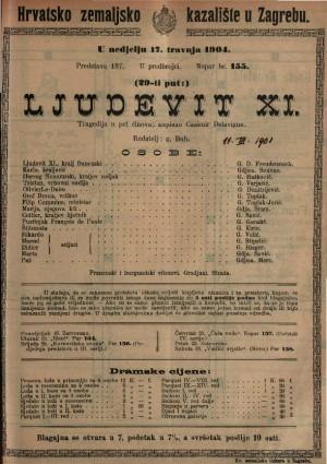 Ljudevit XI tragedija u pet činova / napisao Casimir Delavigne